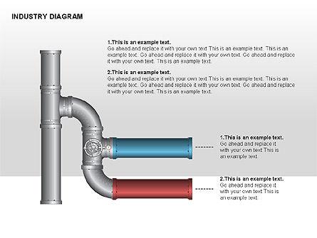 Industry Diagram, Slide 8, 00294, Stage Diagrams — PoweredTemplate.com