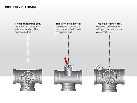 Industry Diagram, Slide 9, 00294, Stage Diagrams — PoweredTemplate.com