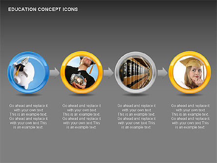 Education Concept Icons, Slide 10, 00295, Education Charts and Diagrams — PoweredTemplate.com