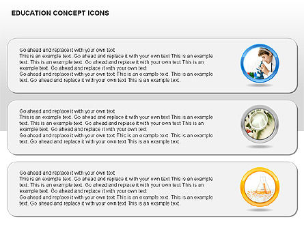 Education Concept Icons, Slide 12, 00295, Education Charts and Diagrams — PoweredTemplate.com