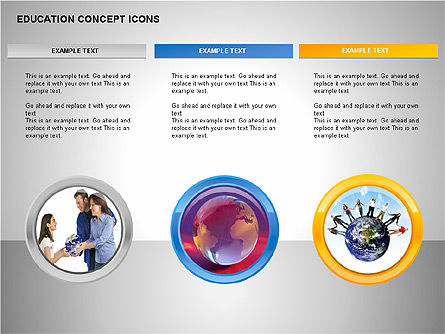 Education Concept Icons, Slide 14, 00295, Education Charts and Diagrams — PoweredTemplate.com
