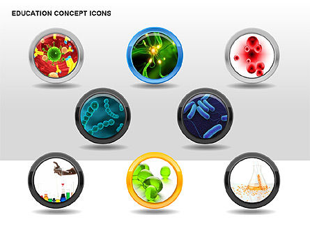 Education Concept Icons, Slide 5, 00295, Education Charts and Diagrams — PoweredTemplate.com
