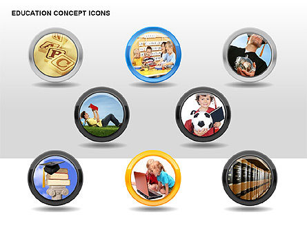 Education Concept Icons, Slide 7, 00295, Education Charts and Diagrams — PoweredTemplate.com