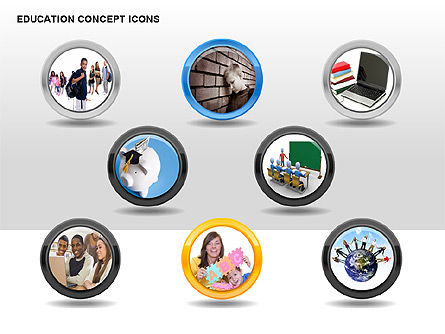 Education Concept Icons, Slide 8, 00295, Education Charts and Diagrams — PoweredTemplate.com