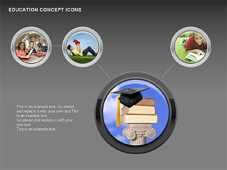 Education Concept Icons, Slide 9, 00295, Education Charts and Diagrams — PoweredTemplate.com