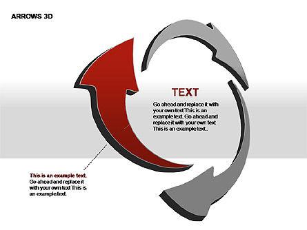 3D Arrows Shapes, Slide 10, 00296, Stage Diagrams — PoweredTemplate.com