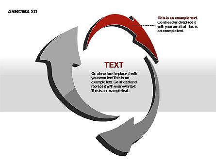 3D Arrows Shapes, Slide 11, 00296, Stage Diagrams — PoweredTemplate.com