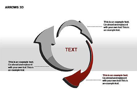 3D Arrows Shapes, Slide 12, 00296, Stage Diagrams — PoweredTemplate.com