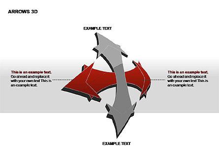 3D Arrows Shapes, Slide 13, 00296, Stage Diagrams — PoweredTemplate.com