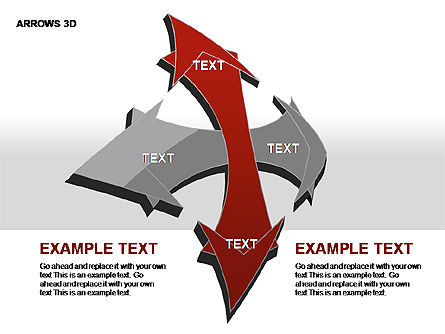 3D Arrows Shapes, Slide 14, 00296, Stage Diagrams — PoweredTemplate.com