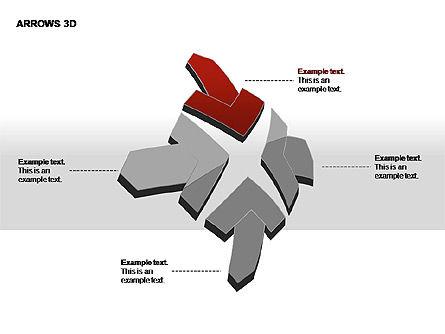 3D Arrows Shapes, Slide 15, 00296, Stage Diagrams — PoweredTemplate.com
