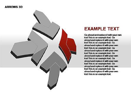3D Arrows Shapes, Slide 16, 00296, Stage Diagrams — PoweredTemplate.com