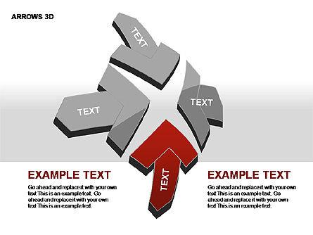 3D Arrows Shapes, Slide 17, 00296, Stage Diagrams — PoweredTemplate.com