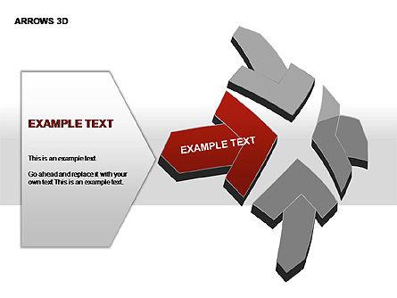 3D Arrows Shapes, Slide 18, 00296, Stage Diagrams — PoweredTemplate.com