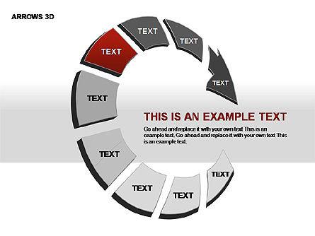 3D Arrows Shapes, Slide 5, 00296, Stage Diagrams — PoweredTemplate.com