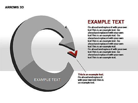3D Arrows Shapes, Slide 6, 00296, Stage Diagrams — PoweredTemplate.com