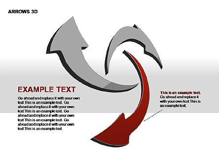 3D Arrows Shapes, Slide 9, 00296, Stage Diagrams — PoweredTemplate.com