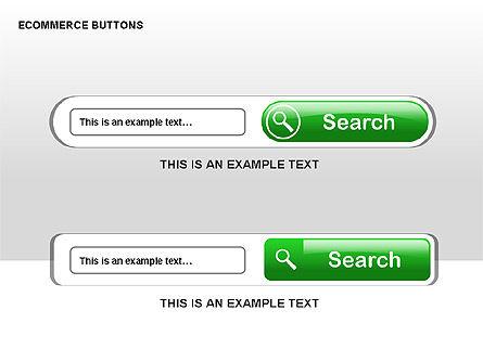 Ecommerce Buttons, Slide 10, 00298, Shapes — PoweredTemplate.com