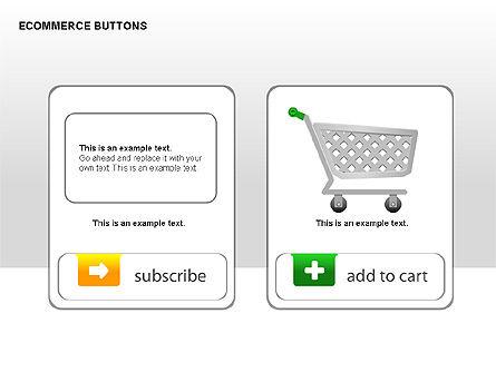 Ecommerce Buttons, Slide 11, 00298, Shapes — PoweredTemplate.com