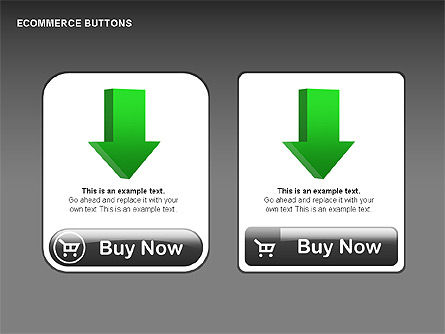 Ecommerce Buttons, Slide 12, 00298, Shapes — PoweredTemplate.com