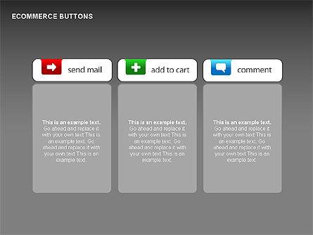 Ecommerce Buttons, Slide 13, 00298, Shapes — PoweredTemplate.com