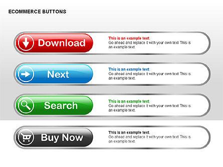 Ecommerce Buttons, Slide 14, 00298, Shapes — PoweredTemplate.com