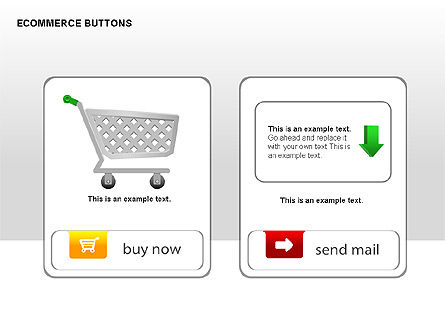 Ecommerce Buttons, Slide 15, 00298, Shapes — PoweredTemplate.com
