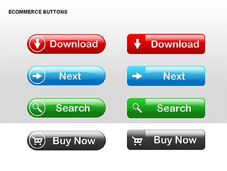 Ecommerce Buttons, Slide 5, 00298, Shapes — PoweredTemplate.com