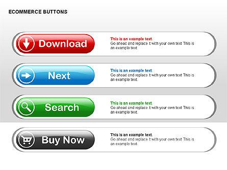 Ecommerce Buttons, Slide 6, 00298, Shapes — PoweredTemplate.com