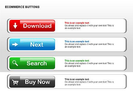 Ecommerce Buttons, Slide 7, 00298, Shapes — PoweredTemplate.com