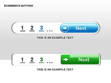 Ecommerce Buttons, Slide 8, 00298, Shapes — PoweredTemplate.com