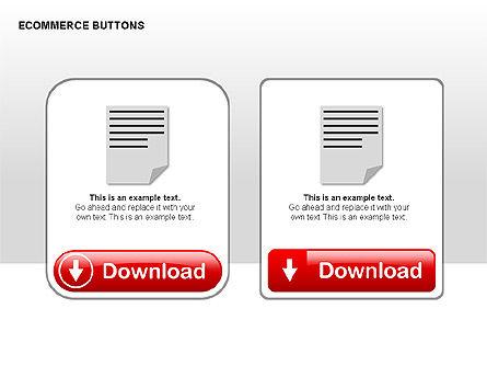 Ecommerce Buttons, Slide 9, 00298, Shapes — PoweredTemplate.com