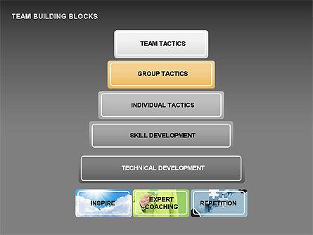 Team Building Blocks, Slide 10, 00299, Organizational Charts — PoweredTemplate.com