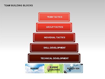 Team Building Blocks, Slide 12, 00299, Organizational Charts — PoweredTemplate.com