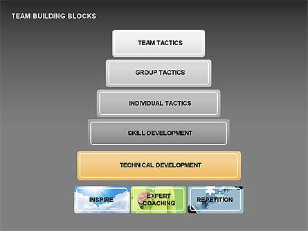 Team Building Blocks, Slide 7, 00299, Organizational Charts — PoweredTemplate.com