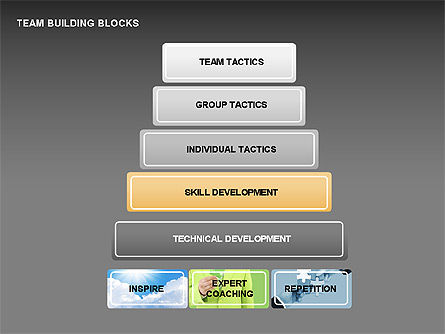 Team Building Blocks, Slide 8, 00299, Organizational Charts — PoweredTemplate.com