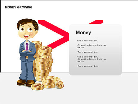 Money Growing Diagrams, 00300, Stage Diagrams — PoweredTemplate.com