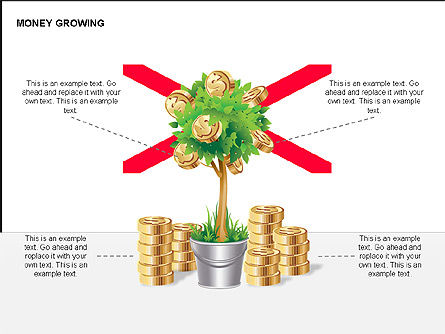 Money Growing Diagrams, Slide 9, 00300, Stage Diagrams — PoweredTemplate.com