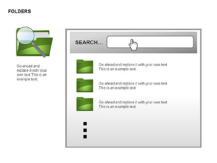 Folders Shapes Collection, Slide 2, 00304, Shapes — PoweredTemplate.com