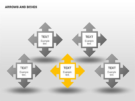 Arrows and Boxes Collection, Slide 3, 00310, Text Boxes — PoweredTemplate.com