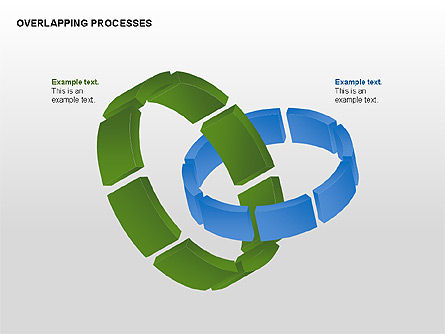 Overlapping Processes, 00311, Process Diagrams — PoweredTemplate.com
