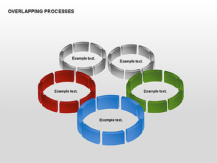 Overlapping Processes, Slide 2, 00311, Process Diagrams — PoweredTemplate.com