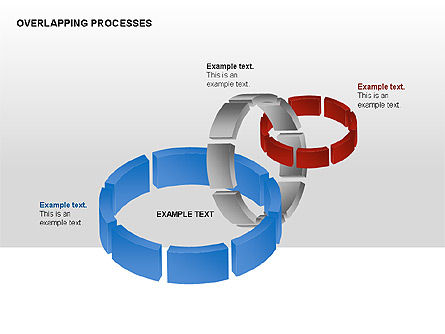 Overlapping Processes, Slide 3, 00311, Process Diagrams — PoweredTemplate.com