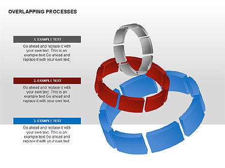 Overlapping Processes, Slide 4, 00311, Process Diagrams — PoweredTemplate.com