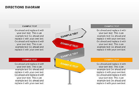 Directions Diagram Collection, Slide 4, 00312, Shapes — PoweredTemplate.com