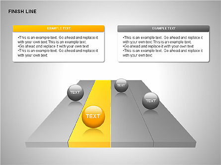 Finish Line Diagrams, Slide 3, 00313, Stage Diagrams — PoweredTemplate.com