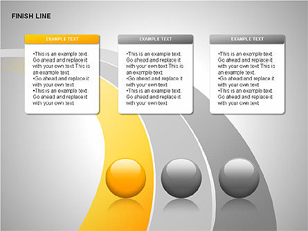 Finish Line Diagrams, Slide 4, 00313, Stage Diagrams — PoweredTemplate.com