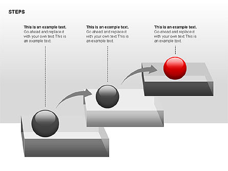 Steps Diagrams Collection, Slide 2, 00314, Stage Diagrams — PoweredTemplate.com