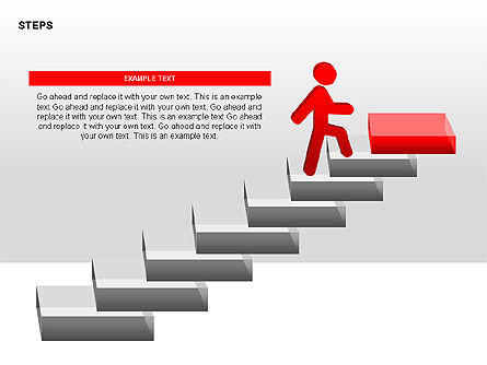 Steps Diagrams Collection, Slide 4, 00314, Stage Diagrams — PoweredTemplate.com