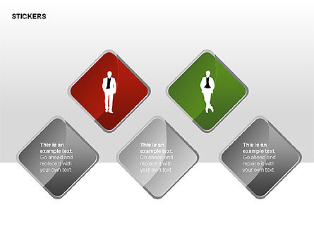 Stickers and Silhouettes, Slide 7, 00315, Icons — PoweredTemplate.com